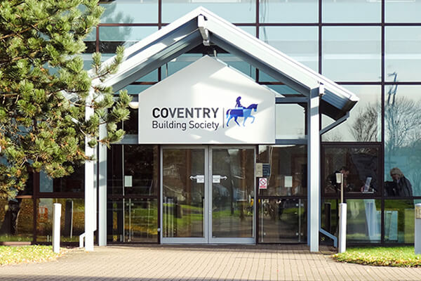 Fabricated Tray Signs Coventry Building Society
