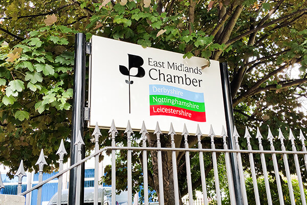 Post Mounted Sign East Midlands Chamber